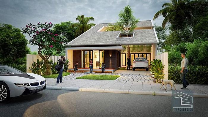 Công trình N-House - thiết kế nhà cấp 4 phong cách hiện đại