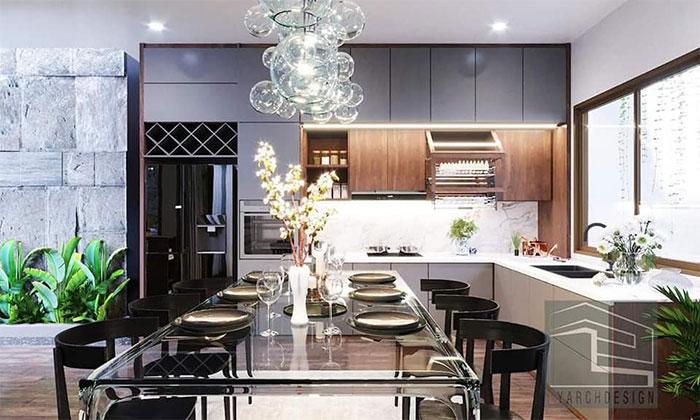 Nội thất phòng bếp công trình N-house nhà cấp 4 phong cách hiện đại