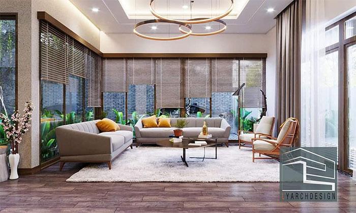 Nội thất phòng khách công trình N-House