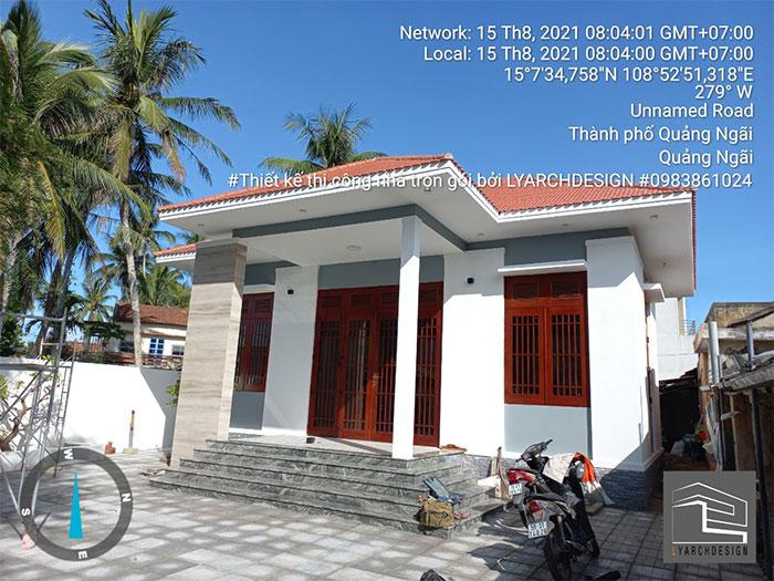 Hình ảnh công trình thực thế hoàn thành nhà thờ họ tại Nghĩa Phú