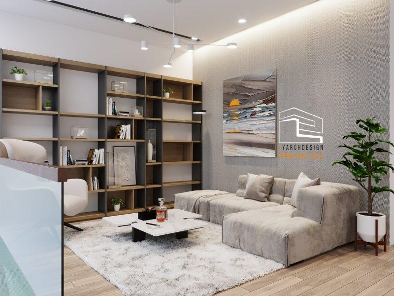 Phòng khách nhà phố La Hà