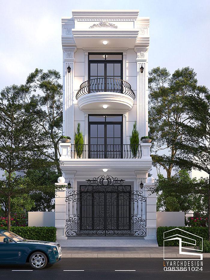 Mê mẩn kiến trúc nhà phố Tân Cổ Điển 3 tầng thiết kế đẹp mắt