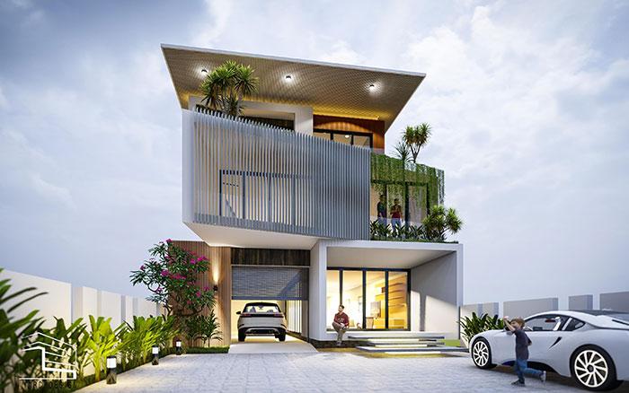 Chiêm ngưỡng mẫu nhà đẹp 3 tầng hiện đại