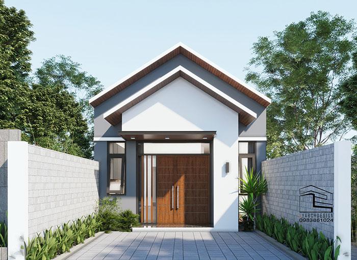 Công trình nhà mái thái 1 tầng tại đường Lê Trung Đình