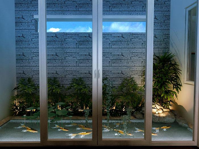 Thiết kế hồ cá nhà phố 3 tầng