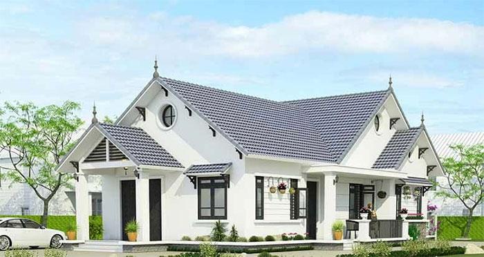 Thiết kế nhà cấp 4 theo phong cách biệt thự nhà vườn