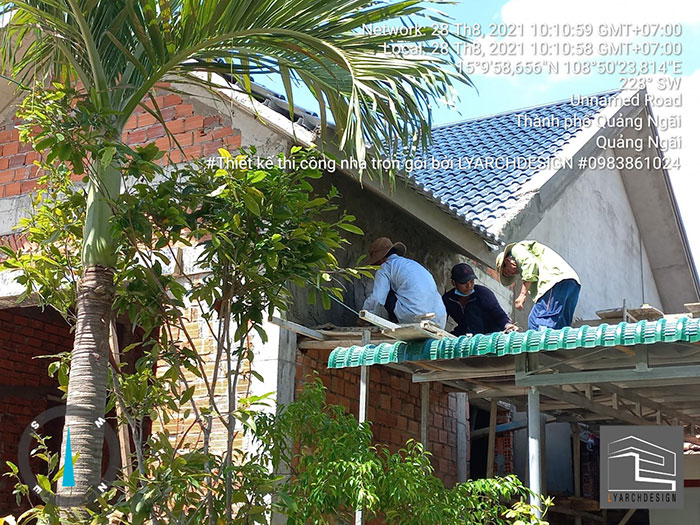 Thi công nhà cấp 4 tại Tịnh Châu - TP. Quảng Ngãi