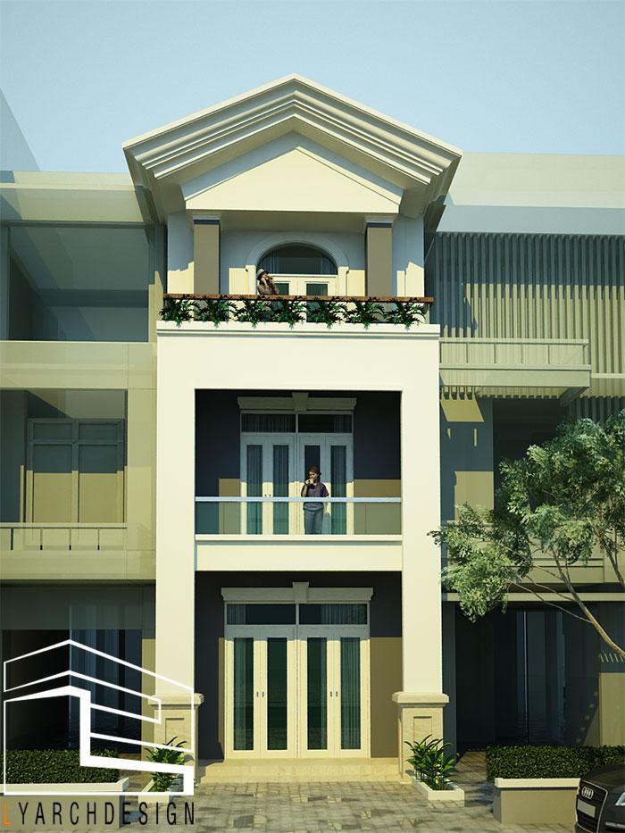 Công trình nhà phố khu tái định cư Phạm Văn Đồng