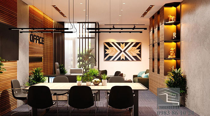 Thiết kế nội thất văn phòng làm việc công trình CTY tại Quảng Ngãi
