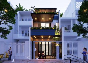 Thiết kế thi công trọn gói nhà phố 3 tầng đường Chu Văn An