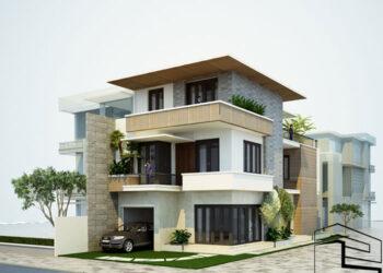 Nhà phố 3 tầng đẹp hiện đại tại đường Phan Văn Trị TP. Quảng Ngãi
